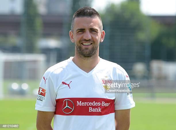 Vedad Ibisevic poses during the VfB Stuttgart team presentation on July 17 2015 in Stuttgart Germany