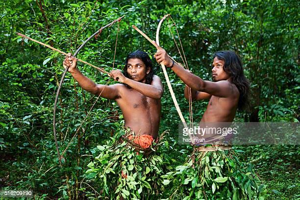 Vedda people - forest people hunting on Sri Lanka