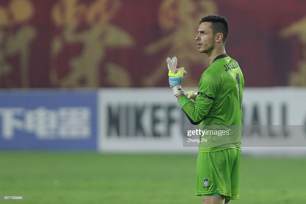 Vedran Janjetovic of Sydney FC during the AFC Asian Champions League match between Guangzhou Evergrande FC and Sydney FC at Tianhe Stadium on May 3, 2016 in Guangzhou, China.