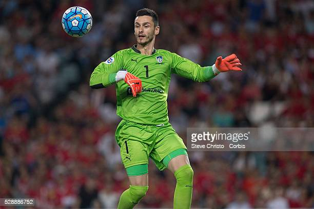 Vedran Janjetovic of Sydney FC in action against Guangzhou Evergrande during the AFC Champions League match between Sydney FC and Guangzhou...
