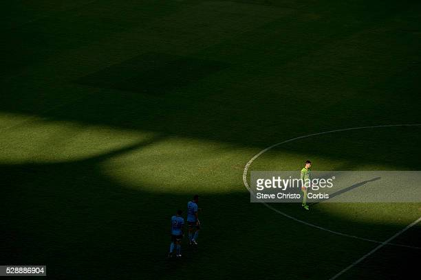 Vedran Janjetovic of Sydney FC stands in the light during the Round 23 ALeague match between Sydney FC and Wellington Phoenix at the Sydney Football...