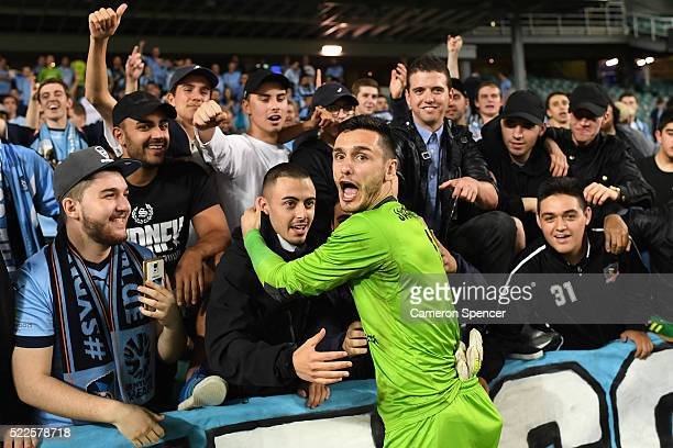 Vedran Janjetovic of Sydney FC thanks fans following the AFC Asian Champions League match between Sydney FC and Urawa Red Diamonds at Allianz Stadium...