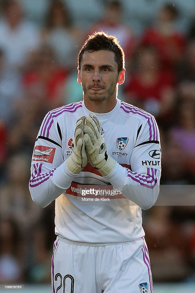 Vedran Janjetovic of Sydney reacts during the round 14 A-League match between Adelaide United and Sydney FC at Hindmarsh Stadium on December 31, 2012 in Adelaide, Australia.