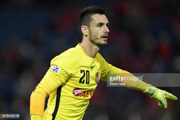 Vedran Janjetovic of Western Sydney in action during the AFC Champions League Group F match between Urawa Red Diamonds and Western Sydney at Saitama...