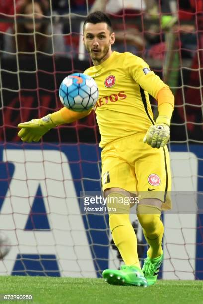 Vedran Janjetovic of Western Sydney Wanderers in action during the AFC Champions League Group F match between Urawa Red Diamonds and Western Sydney...