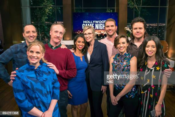 NIGHT 'Veep vs The Walking Dead' Episode 509 Pictured Tony Hale Anna Chlumsky Matt Walsh Contestant Jane Lynch Contestant Lauren Cohan Josh McDermitt...