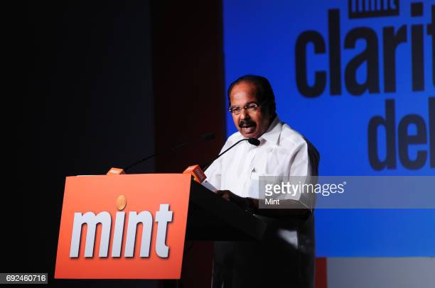 Veerappa Moily Minister of Corporate Affairs photographed during the Mint Clarity Through Debate on enabling business action for sustainable future