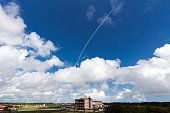A Vega rocket lifts off from the ESA's base in Kourou French Guiana on February 11 bearing the Intermediate eXperimental Vehicle on a 100minute test...
