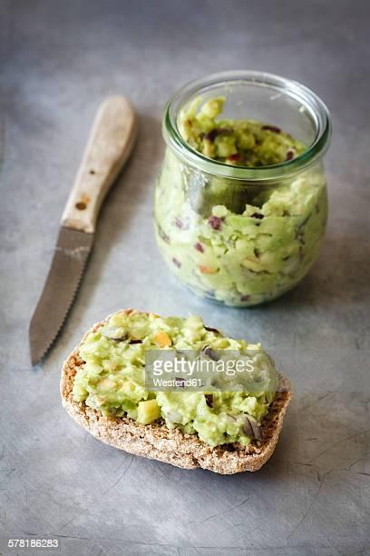 Vegan apple avocado dip with onions