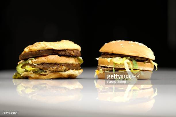A vegan Big Mac beside the real thing is a popular meal at Doomies a westend restaurant that prides itself on serving vegan comfort food The meatless...