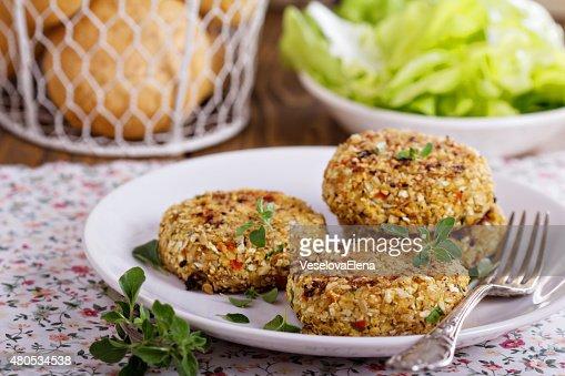 Végétalien hamburgers et de chou-fleur : Photo
