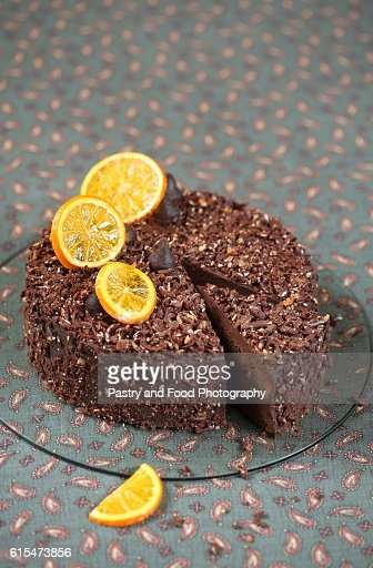 Vegan Chocolate Orange Truffle Cake