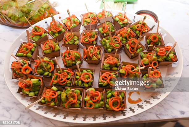 Vegan GlutenFree 'Poke' Cups by Jeff The 420 Chef at The Future Of Cannabis Industry Leaders Investors And Influencers at CE Toberman Estate on April...