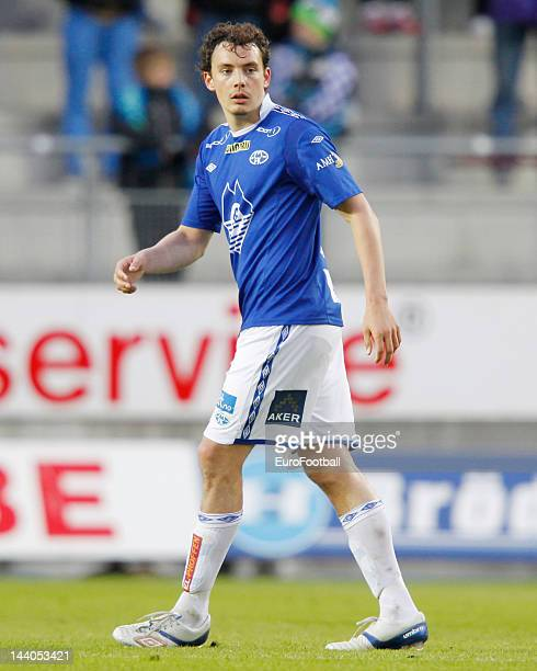 Vegard Forren of Molde FK in action during the Norwegian Tippeligaen match between Molde FK and Aalesunds FK held on May 6 2012 at the Aker Stadion...
