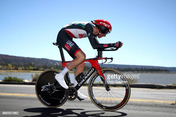 Vegard Stake Laengen of Norway riding for UAE Team Emirates rides during stage five of the AMGEN Tour of California from Ontario to Mt Baldy on May...