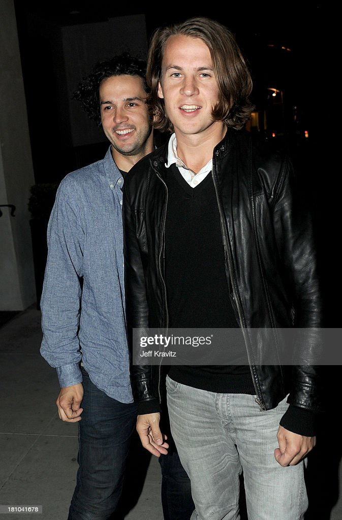 Vegard Ylvisaker and Bard Ylvisaker of Norwegian comedy duo Ylvis arrive at Spago on September 18, 2013 in Beverly Hills, California.