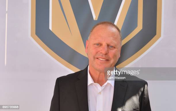 Vegas Golden Knights head coach Gerard Gallant attends an announcement at the Fremont Street Experience on June 13 2017 in Las Vegas Nevada The Vegas...