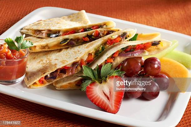vegetable and Cheese Quesadilla
