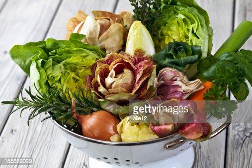 Legumes e ervas aromáticas