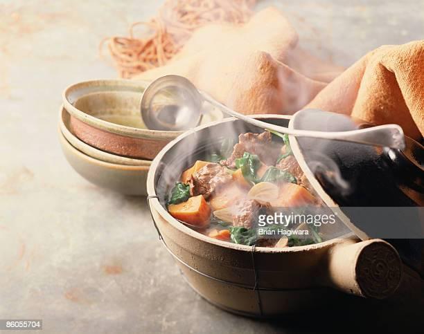 Vegetable beef hot pot
