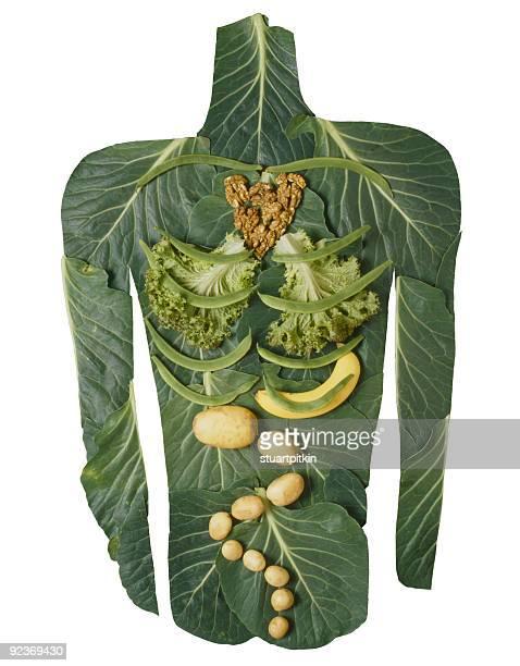 Gemüse Körper auf weiß.