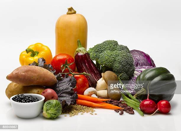 Vegetable food group still life