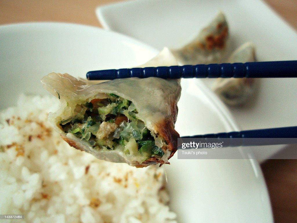 Vegetable Gyoza : Stock Photo