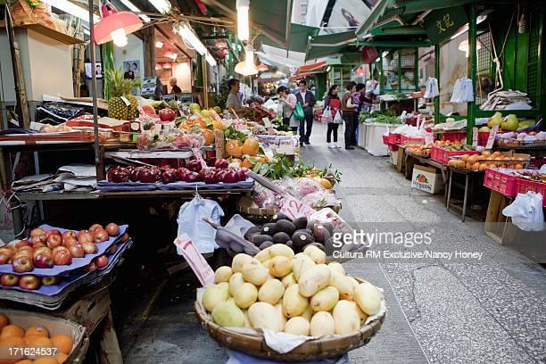 Vegetable market, Hong Kong, China