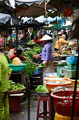 Vegetable market in Can Tho, Vietnam