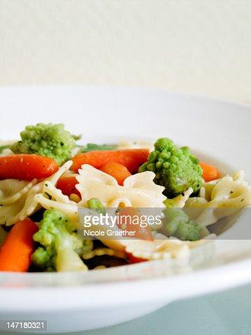 Vegetable pasta : Stock Photo