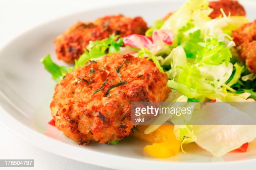 Vegetable patties : Stock Photo