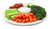 Vegetable plate with dip