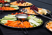 Healthy party buffet vegetable platter