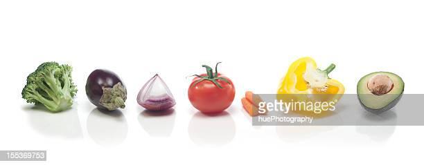 Légumes arc-en-ciel