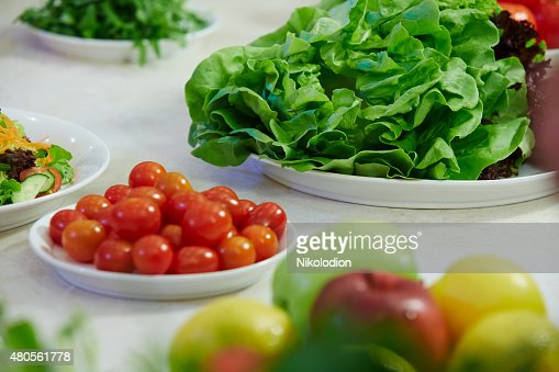 vegetable salad on a plate : Stock Photo