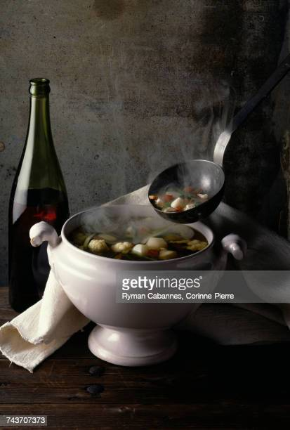 vegetable soup with red wine