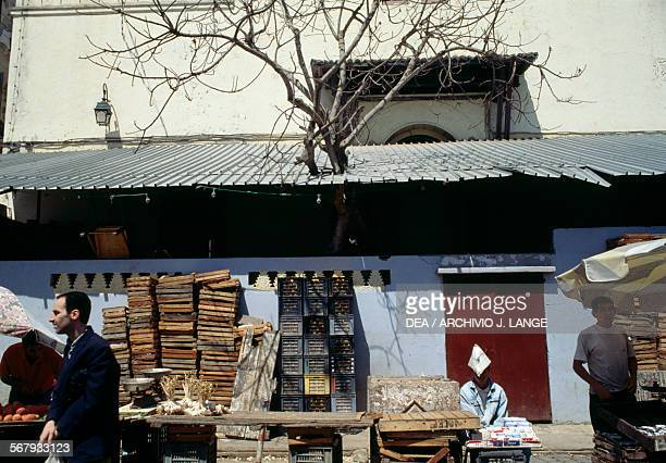Vegetable stall Algiers Algeria