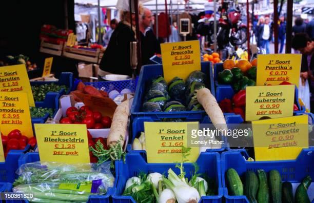 Vegetable stall at Albert Cuyp market.