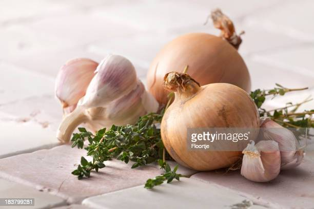 Vegetable Stills: Onions, Garlic and Thyme