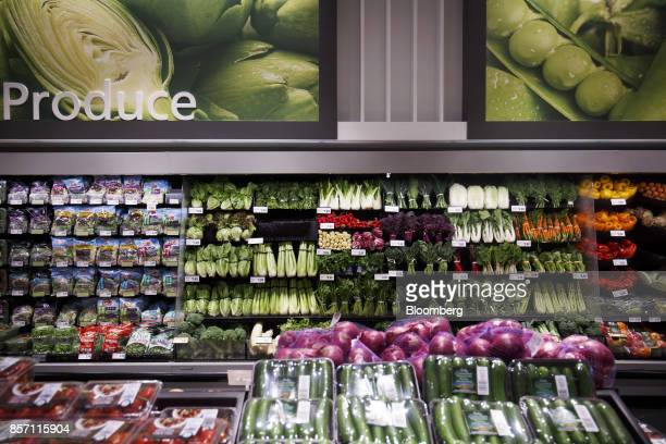 Vegetables are displayed for sale inside a Metro Inc grocery store in Toronto Ontario Canada on Monday Oct 2 2017 Canadian grocer Metro Inc agreed to...
