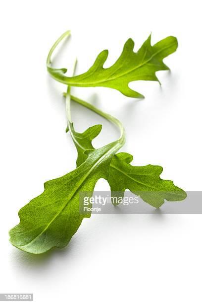 Vegetables: Arugula Lettuce Isolated on White Background
