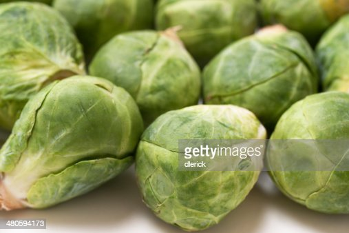 Vegetables: Brussels Sprouts : Stock Photo