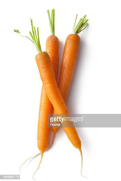 Vegetables: Carrots Isolated on White Background