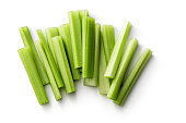 Vegetables: Celery Isolated on White Background