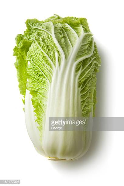 Vegetables: Chinese Cabbage Isolated on White Background