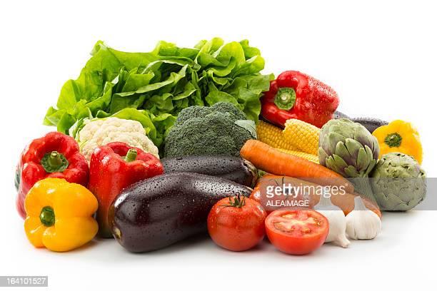 Verduras la composición. Trazado de recorte INCLUIDO