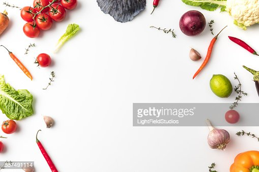vegetables for salad : Stock Photo