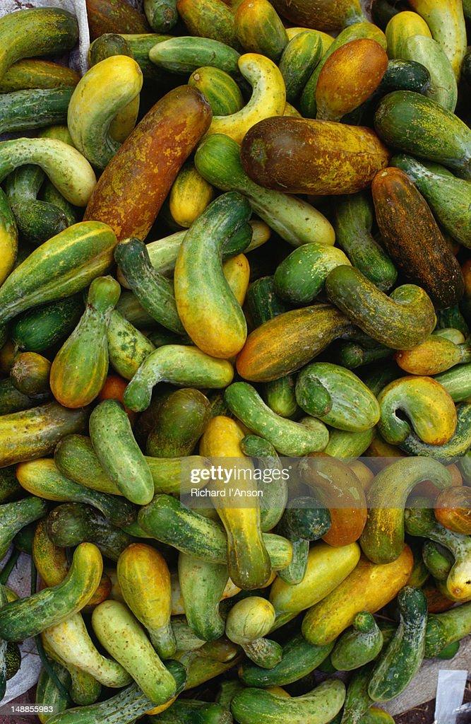 Vegetables for sale at Ubud market. : Stock Photo