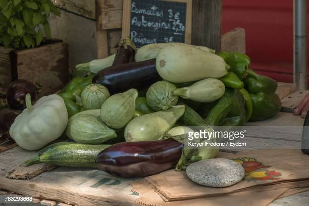 Vegetables For Sale On Table
