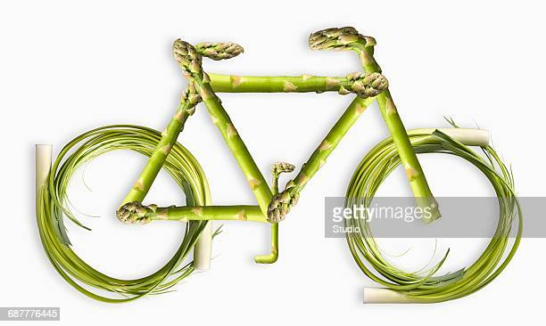 Vegetables Forming the Shape of a Bicycle